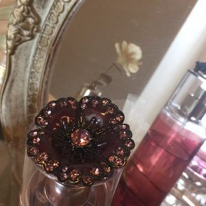 Jewelry - Gorgeous Flower Brooch Plum & Pink in Color